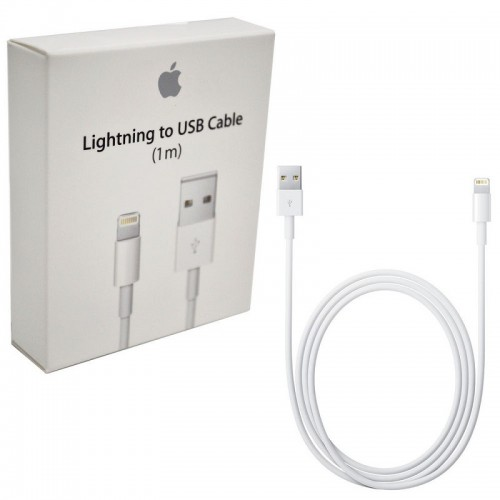 Apple USB to Lightning Cable White 1m (MD818) Σε συσκευασια