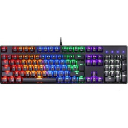Motospeed CK107 Keyboard Blue switches - Black