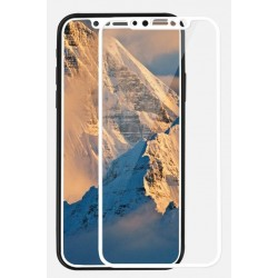 Tempered Glass 9H Iphone X Full Cover White